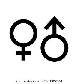 gender male female icon vector design stock vector royalty free 1501909064 gender male female icon vector design