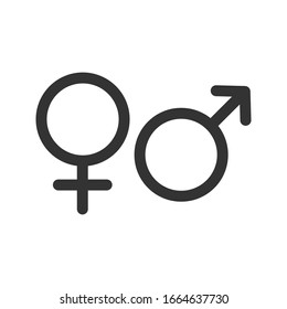 Gender. Male and Female. man and woman symbol vector sign isolated on white background.