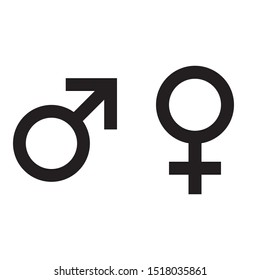 Gender Man and Woman ( Male and Female) black icon template vector isolate on white background for graphic and web design.