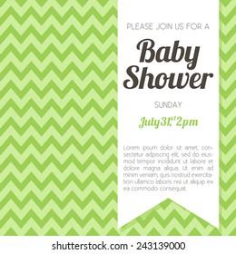 Similar images stock photos vectors of unisex baby shower gender neutral baby shower invitation green chevron background vector eps10 filmwisefo