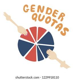 Gender quotas illustration.