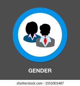 gender sign icon - Male and Female icon symbol on white background,vector illustration
