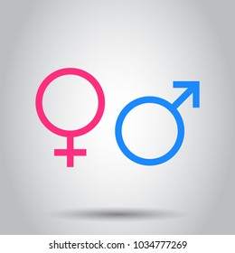 Gender sign icon. Vector illustration on isolated background. Business concept men and women pictogram.