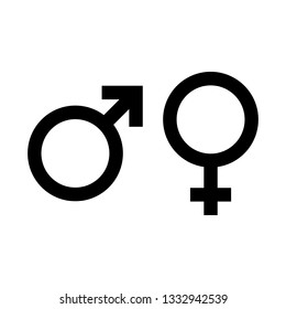 Gender sign for man and woman