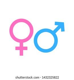Gender Sign Symbol Icon Vector Illustration