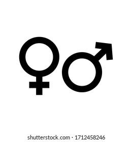 Gender symbol. design template vector
