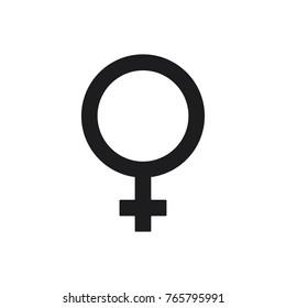 gender symbol, female illustration female icon, female vector icon