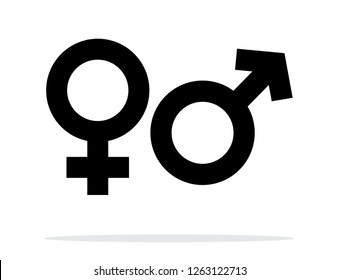 Gender Symbol Isolated Illustration. Vector Male and Female Gender Icons.