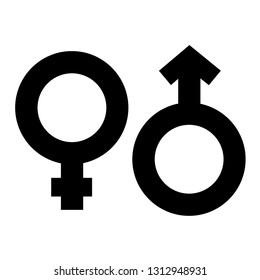 Gender symbol, Male and female symbols. Design by Inkscape.
