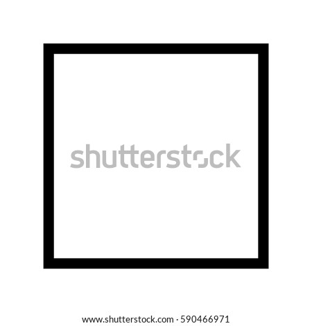 Gender Symbol Square Symbol Symbol Male Stock Vector Royalty Free