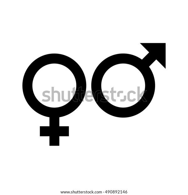 gender symbol, symbols of men and women, vector design  shutterstock