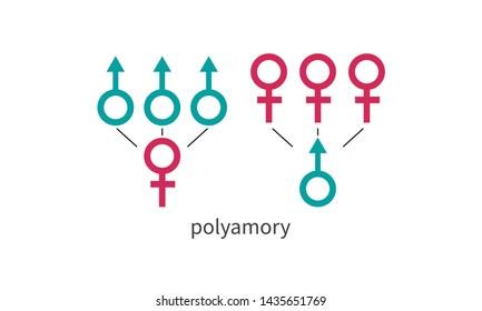 Gender symbol. Vector flat icon