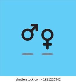Gender symbols. Men and Women