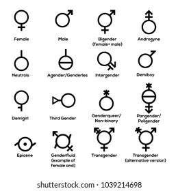 Gender symbols. Vector