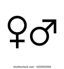 Gender vector icon for web and mobile