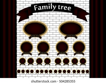 Genealogical tree of your family. Vector illustration