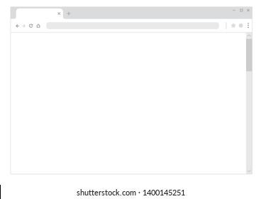 General browser mock-up illustration ( horizonal)