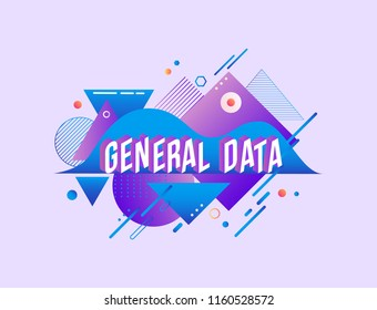 General data protection regulation agreement trendy background template with gradient purple blue colors and abstract geometric shapes. Vector modern poster, banner, presentation layout illustration