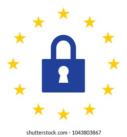 General Data Protection Regulation GDPR. European Union gdpr vector illustration. GDPR is General Data Protection Regulation in European Union.