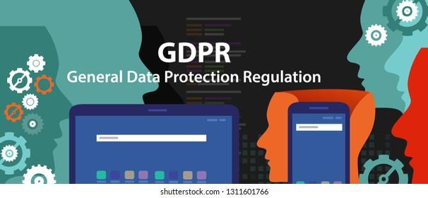 General Data Protection Regulation GDPR Concept Illustration in vector