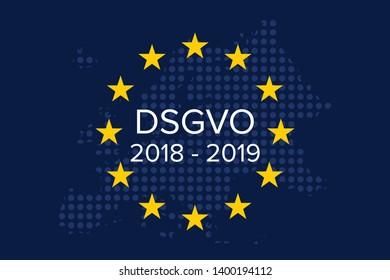 General data protection regulation german mutation: Datenschutz Grundverordnung fur Unternehmen (DSGVO), 2018 - 2019, 1 year on
