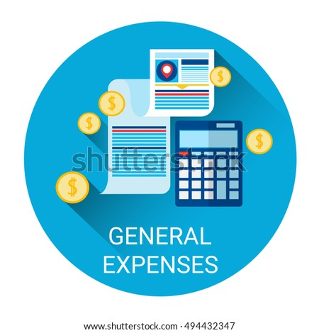 general expenses budget planning business icon stock vector royalty