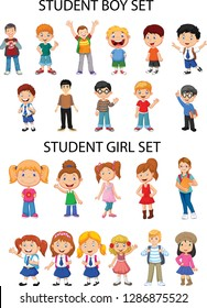 General materials - Girl and boy figures