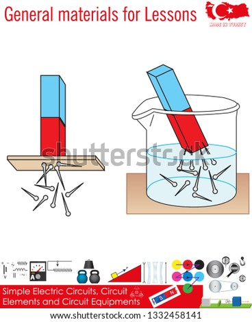 General Materials Lessons Physics Simple Electric Stock Vector