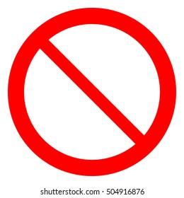 General prohibition sign, not allowed template sign, isolated vector illustration.