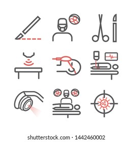 General Surgery line icons. Hospital department. Health center. Vector sign for web graphics.