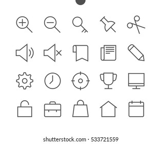 General UI Pixel Perfect Well-crafted Vector Thin Line Icons 48x48 Ready for 24x24 Grid for Web Graphics and Apps with Editable Stroke. Simple Minimal Pictogram Part 2-3