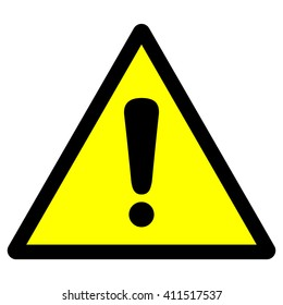 General warning sign with exclamation mark, vector illustration.