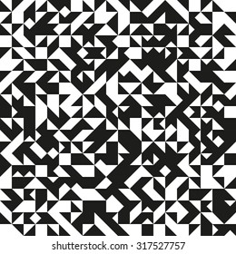 Generative black and white triangles pattern