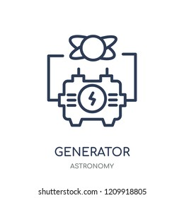 Generator icon. Generator linear symbol design from Astronomy collection.