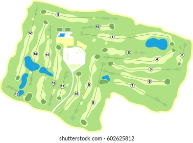 Generic 18 Hole Golf Course map