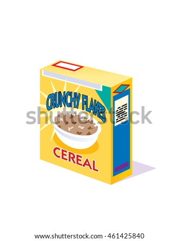 generic box breakfast cereal vector illustration stock vector