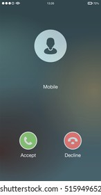 Generic Incoming Phone Call Screen User Interface UI Vector