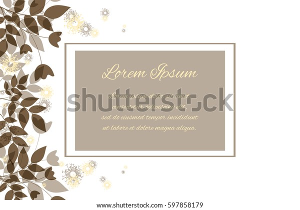 Generic Invitationsave Date Template Ecru Color Stock Vector (Royalty Free) 597858179