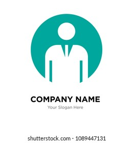 generic person company logo design template, Business corporate vector icon, generic person symbol