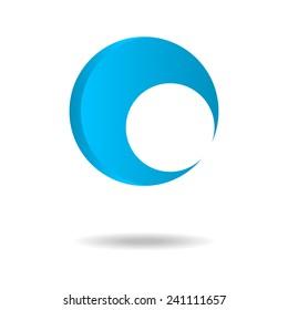 Generic round logo pattern/template. Vector illustration.