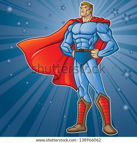 Generic superhero figure standing