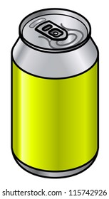A generic unlabelled aluminium drink can - 330/350/355/375 mL - 11.6/12.3/12.5/13.2 fl oz - 11.2/11.8/12/12.7 US fl oz.