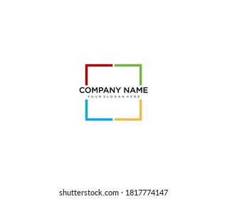Generic vector logo, for your company. Square logo.