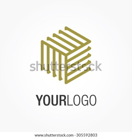 Generic Vector Logo Your Company Square Stock Vector Royalty Free - Generic company logo free