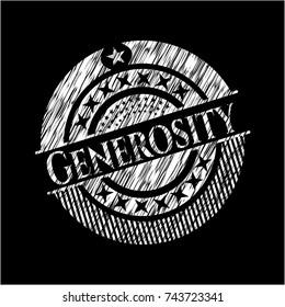 Generosity chalkboard emblem