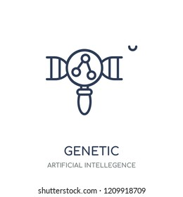 Genetic modification icon. Genetic modification linear symbol design from Artificial Intellegence collection.