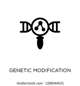 Genetic modification icon. Genetic modification symbol design from Artificial Intellegence collection.
