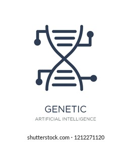 Genetic modification icon. Trendy flat vector Genetic modification icon on white background from Artificial Intelligence, Future Technology collection, vector illustration