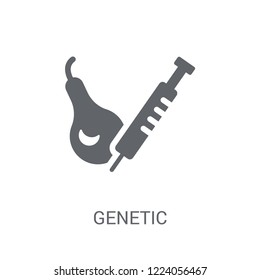 Genetic modification icon. Trendy Genetic modification logo concept on white background from Artificial Intelligence collection. Suitable for use on web apps, mobile apps and print media.