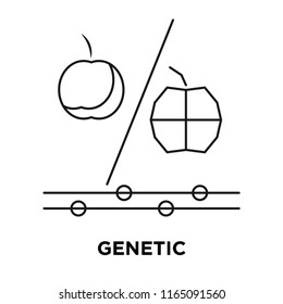 Genetic modification icon vector isolated on white background, Genetic modification transparent sign